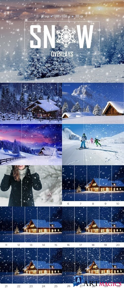 30 Real Snow Overlays 1796025