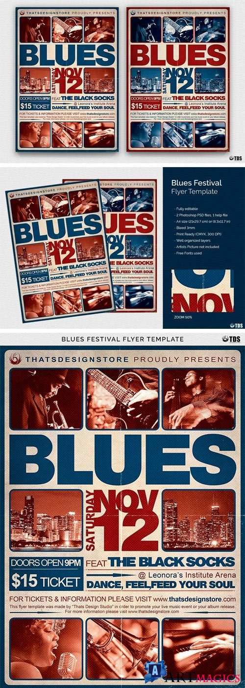 Blues Festival Flyer Template V2 - 2021256
