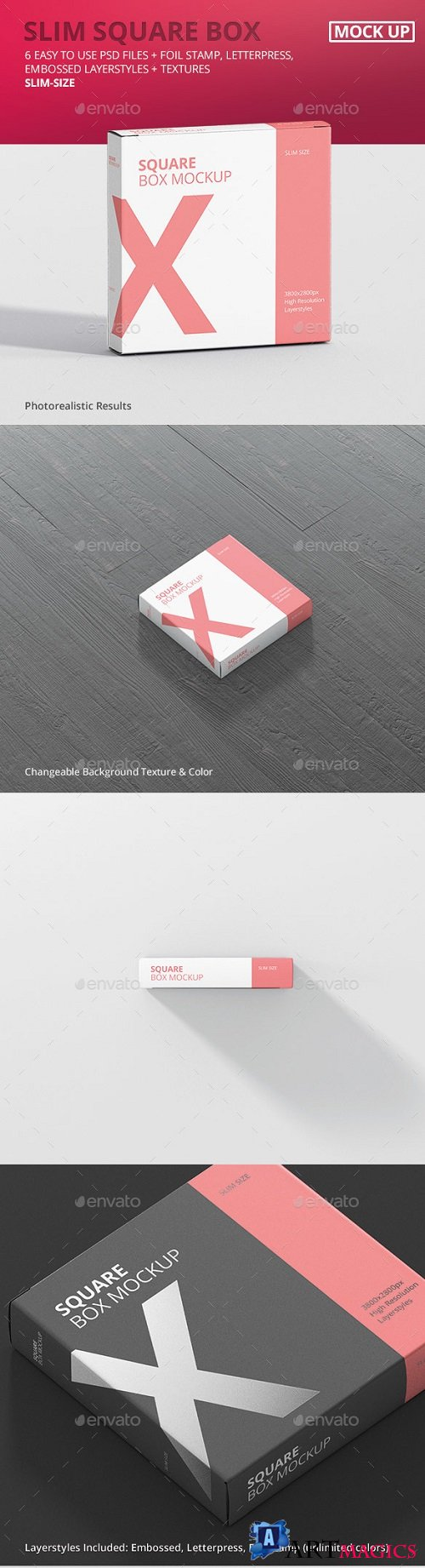 Box Mockup - Square Slim Size - 21010240