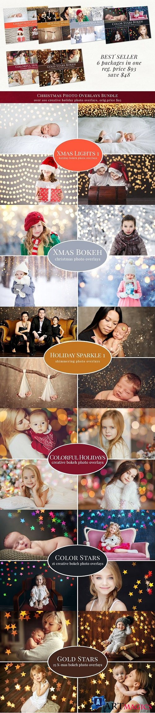 Christmas photo overlays - bundle 2044892