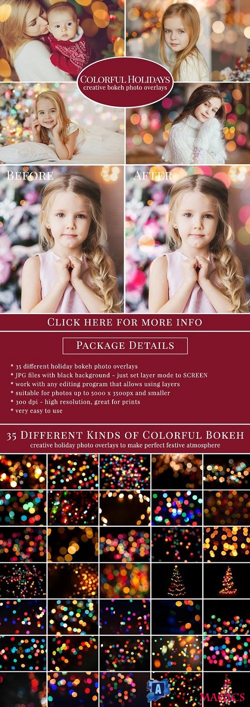 Colorful Holidays photo overlays - 1085739