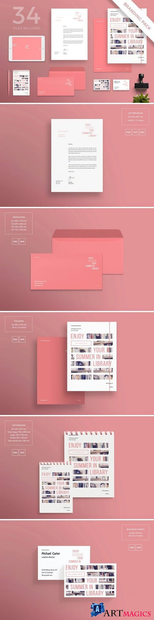 Branding Pack | Summer In Library 1613781