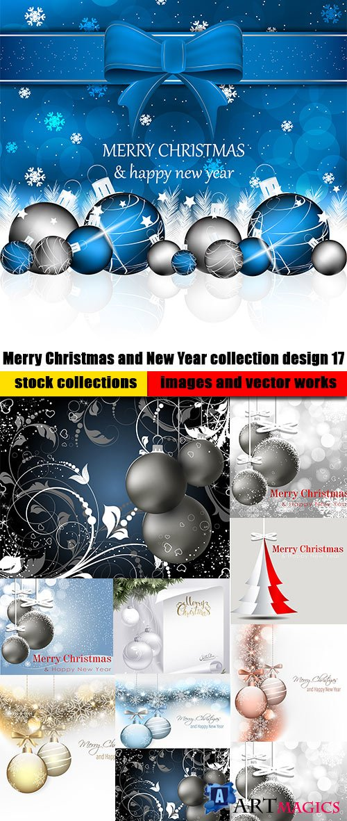 Merry Christmas and New Year collection design 17