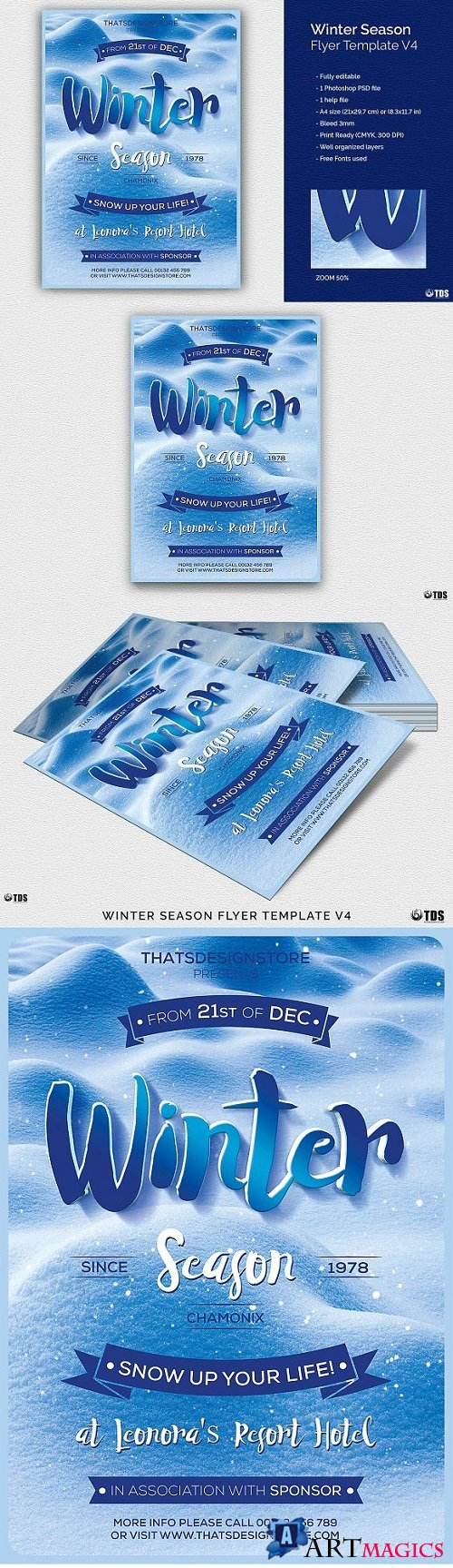 Winter Season Flyer Template V4 2037380