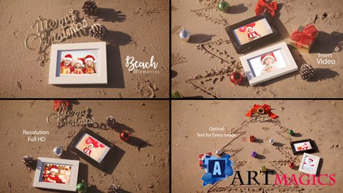 Christmas Photo Frame On Thee Beach - Project for After Effects (Videohive)