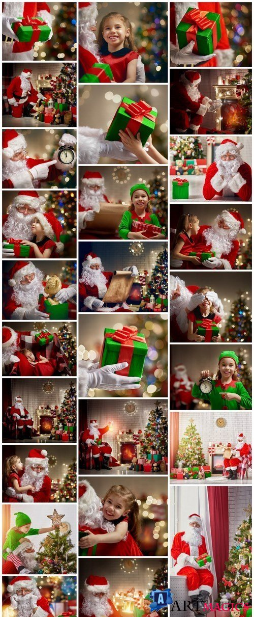 Santa Claus, Children's & New Year's Gifts 2 - 26xUHQ JPEG