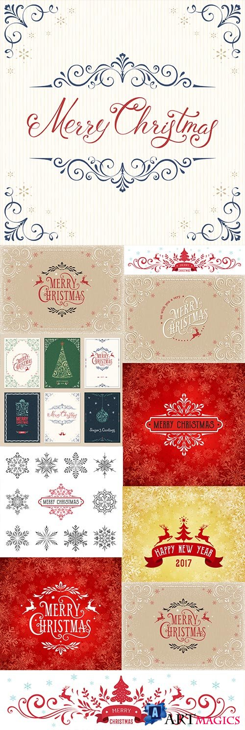 Merry Christmas decorative background 8