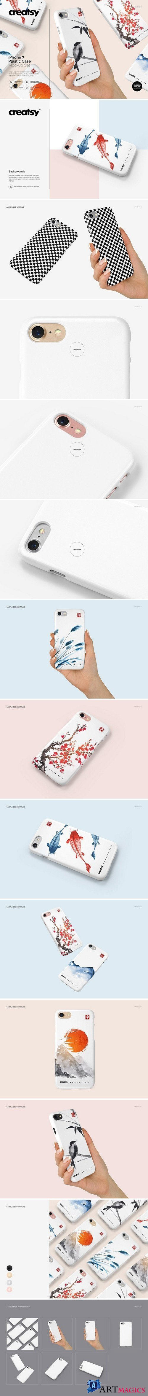 iPhone 7 Plastic Case Mockup Set 2088234