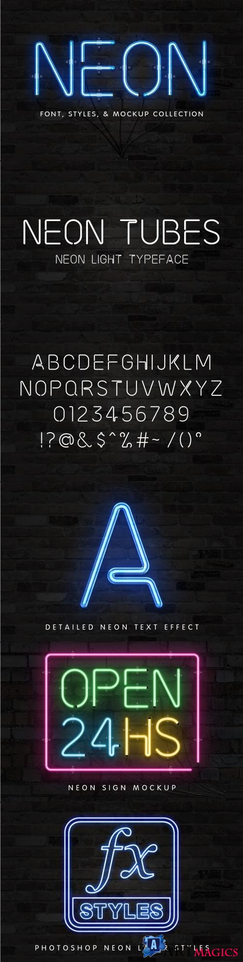 The Neon Font & Sign Collection - 1874128