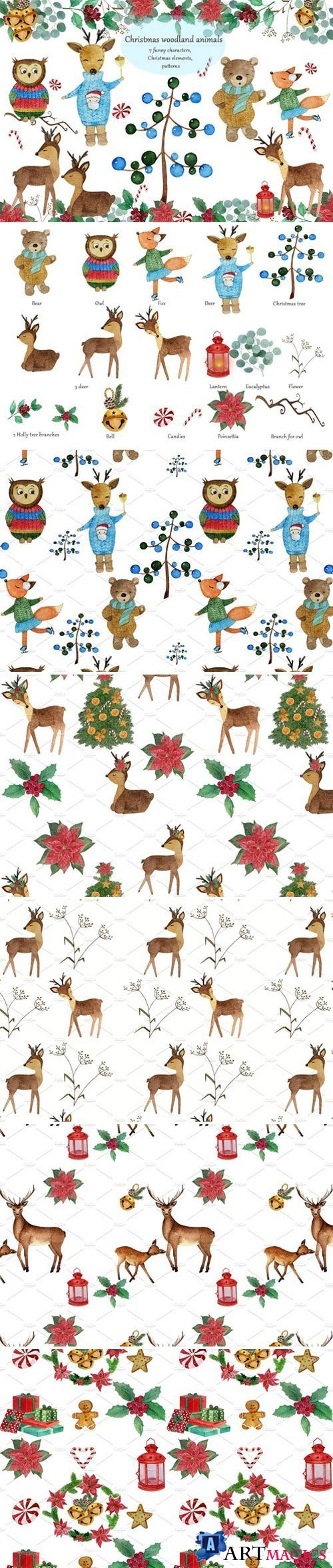 Christmas woodland animals 2072940
