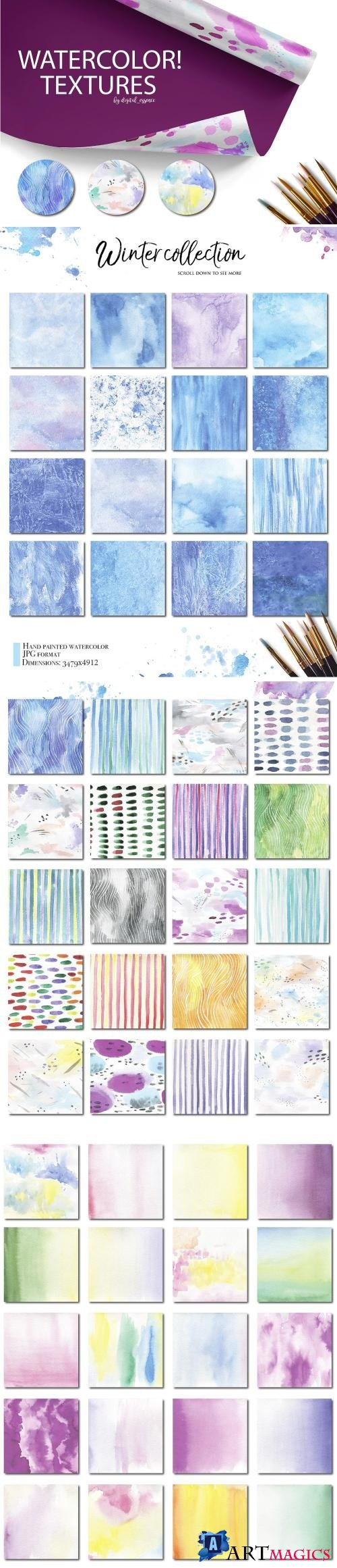 Watercolor textures kit - 2117917