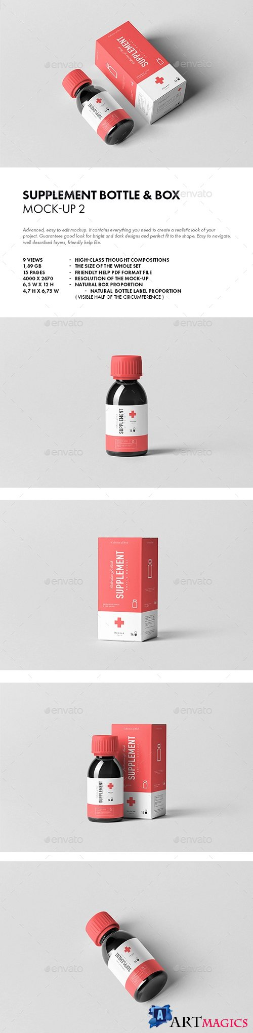Supplement Bottle & Box Mock-up 2 - 21082382