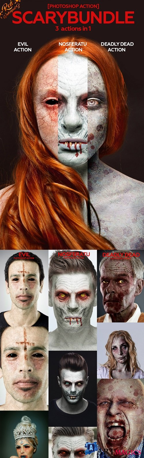 Scary Bundle Photoshop Action - 20953798