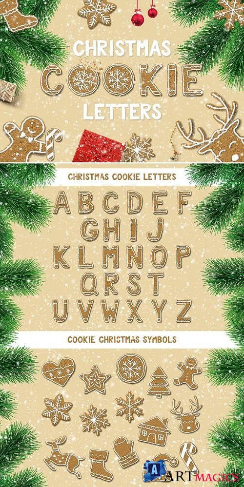 Christmas Cookie Letters - 1803222