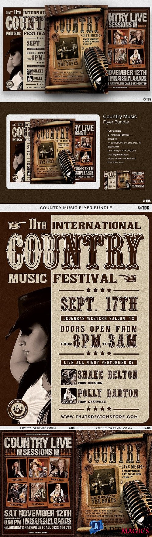 Country Music Flyer Bundle 2081052