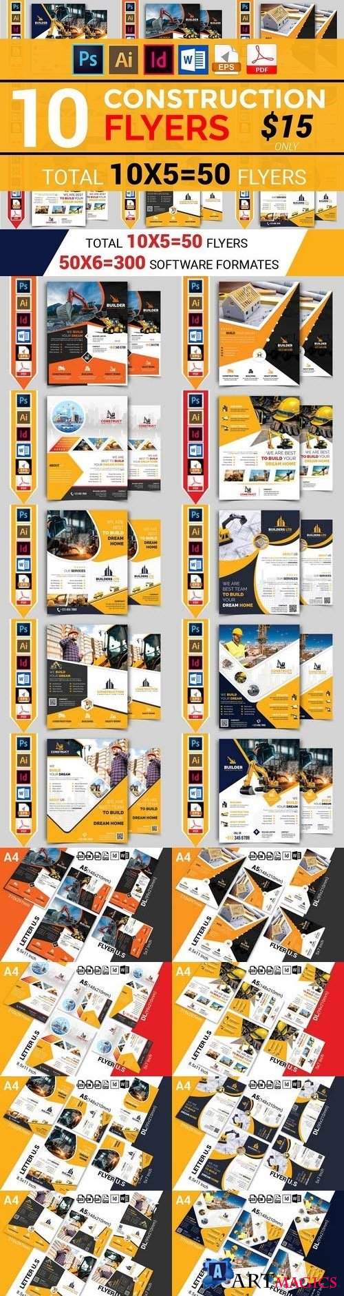 10 Construction Flyer Bundle - 1916352