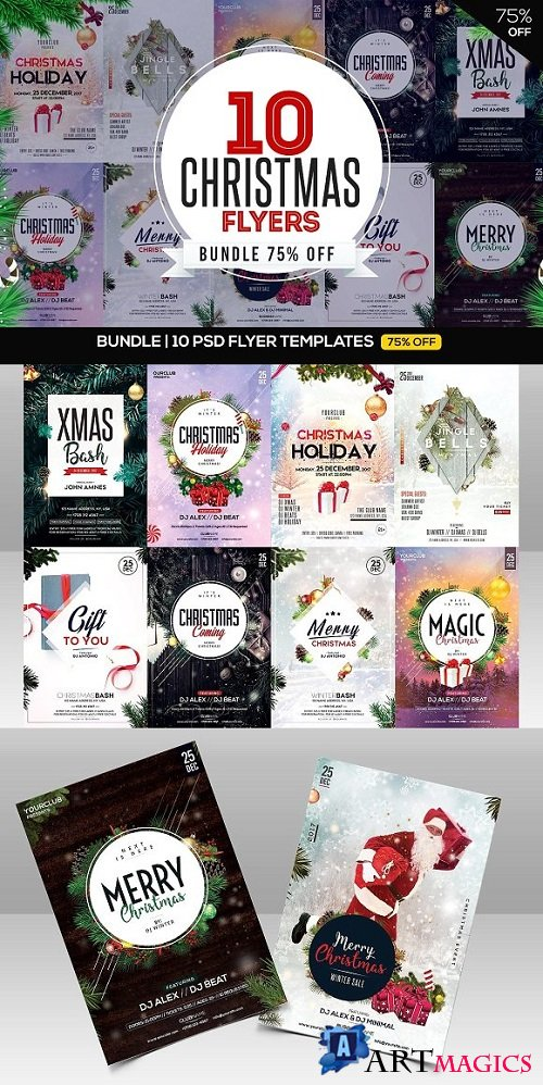 BUNDLE 10 CHRISTMAS Flyers - 2025106