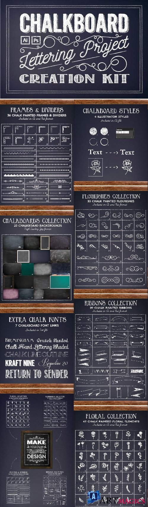 Chalkboard Lettering Project Kit - 1898148