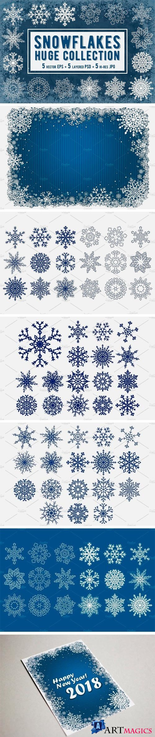 Snowflakes Collection. Vector 2084969