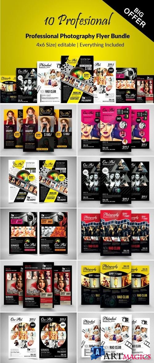 10 Photography Flyer Bundle - 2134185