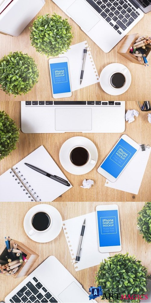 Phone / Smartphone Workspace Mockups 1900104