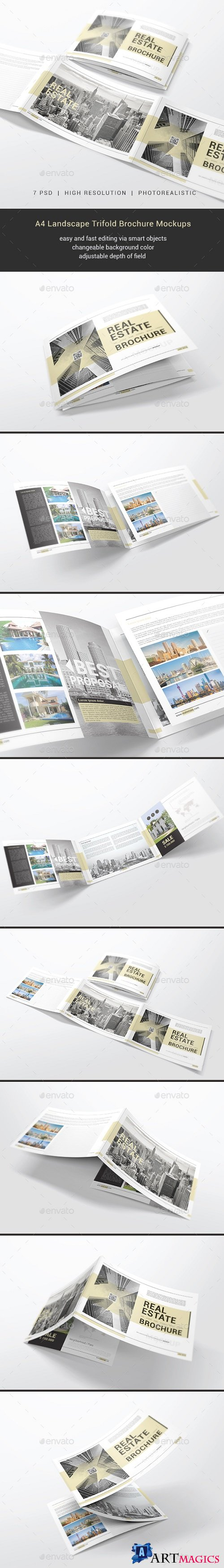 A4 Trifold Brochure Mockups 21168451