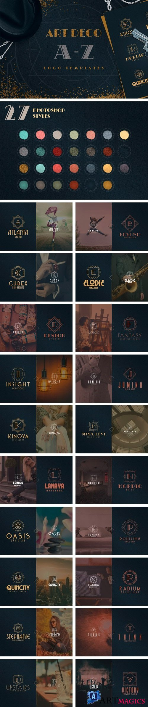 Art Deco A-Z Logo Templates 2112845