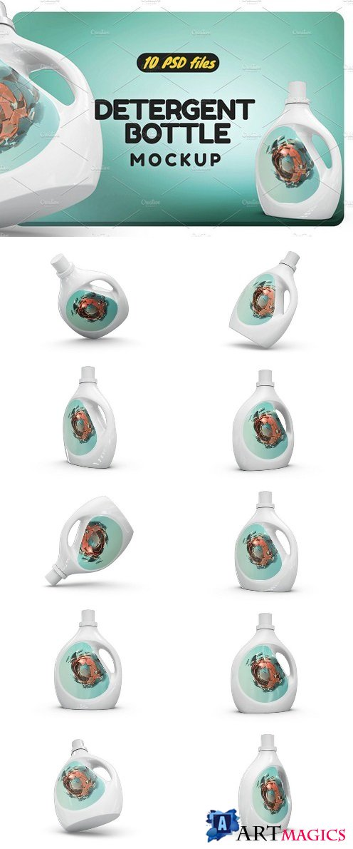 Detergent Bottle Mock-up 2085757