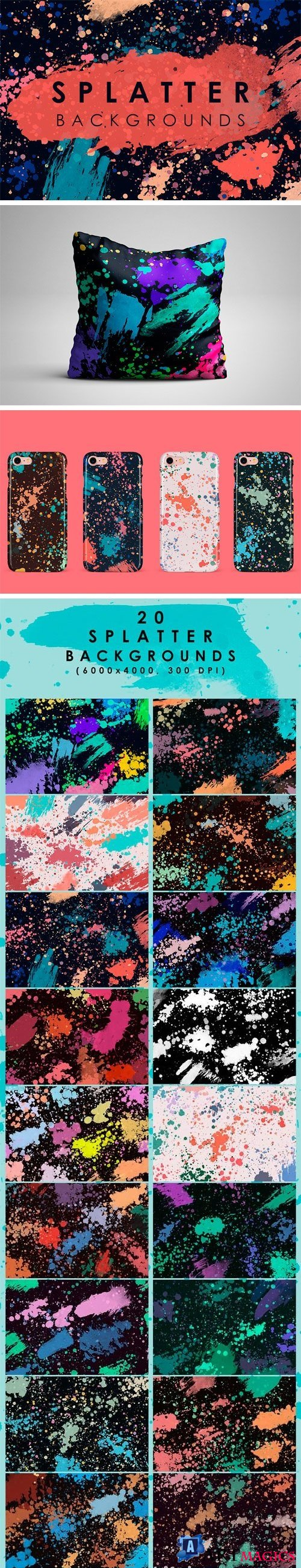 Splatter Backgrounds - 2113042