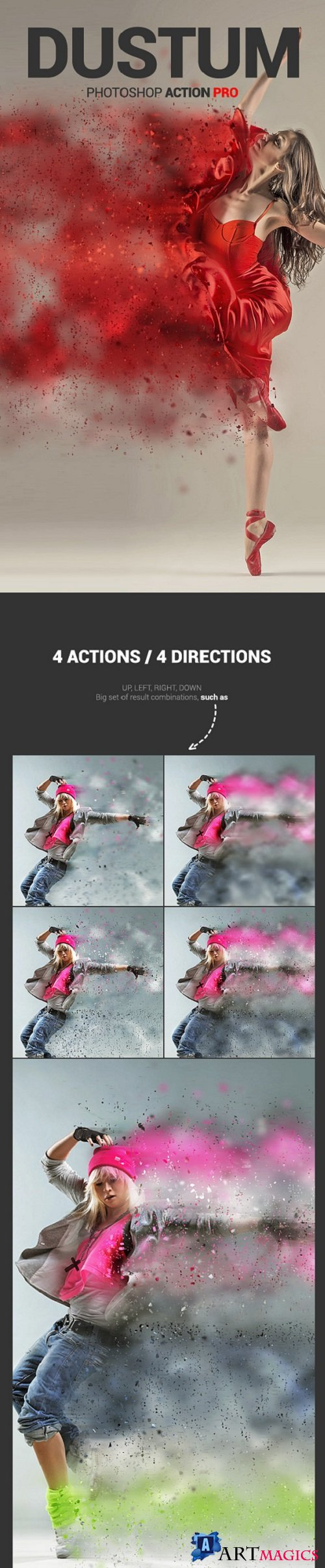 Dustum – Sandstorm Photoshop Action - 11589536