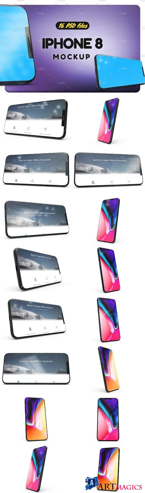 iPhone X Mock-up vol2 2085770