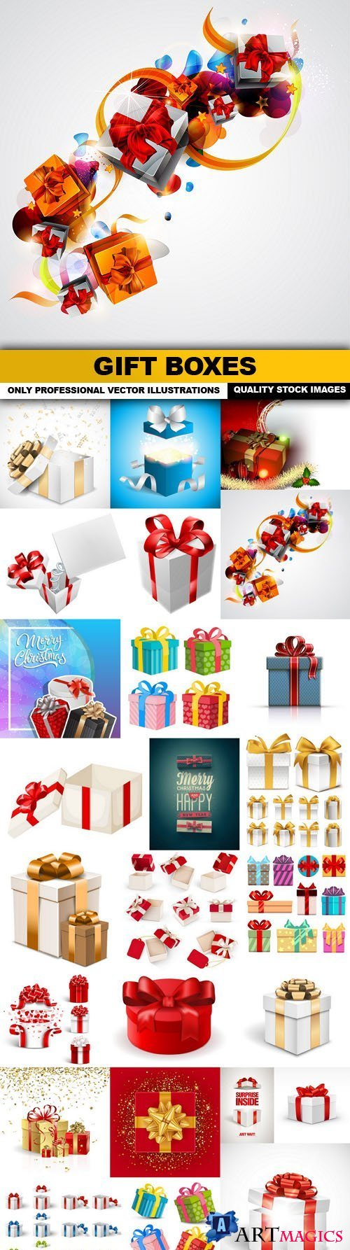 Gift Boxes - 25 Vector