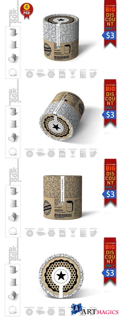 Packaging Mock Up - Paper tubes 2172801