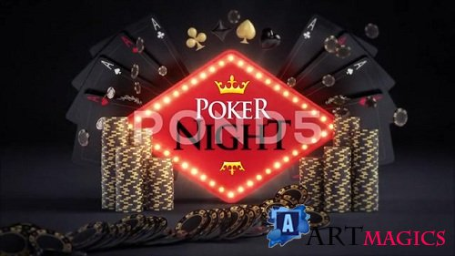 Online Gambling Poker Logo Reveals 81864504 - After Effects Templates