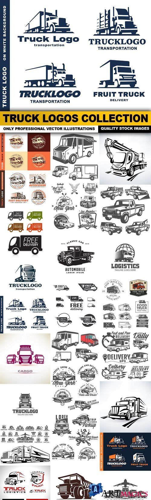 Truck Logos Collection - 25 Vector