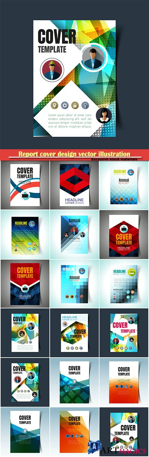 Report cover design vector illustration