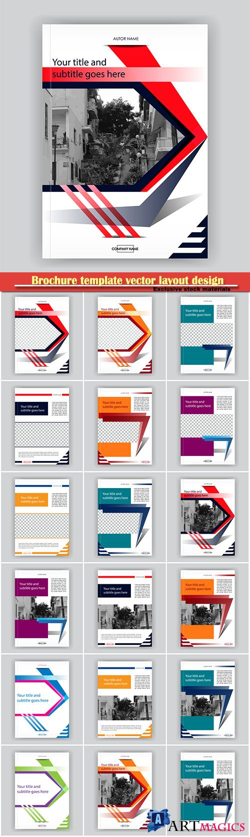 Brochure template vector layout design, corporate business annual report, magazine, flyer mockup # 116
