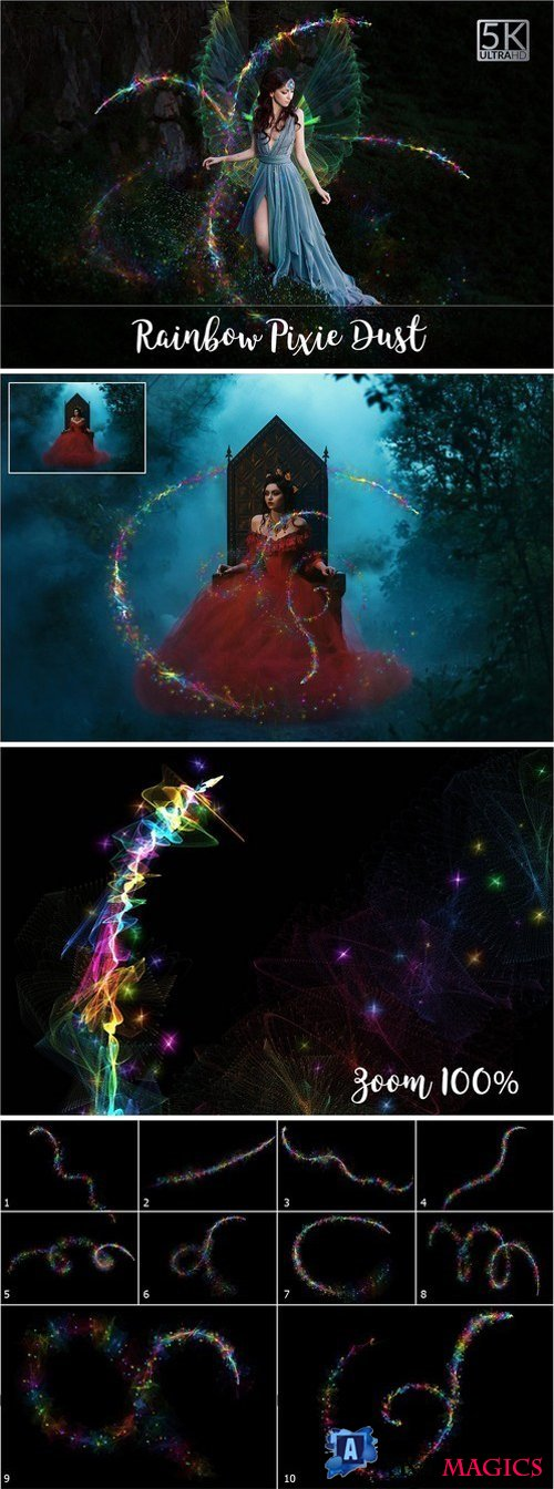 5K Rainbow Pixie Dust Overlays 2137738