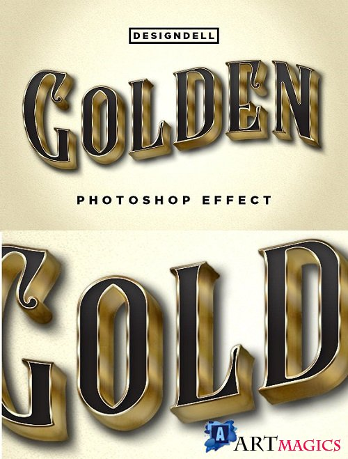 Golden Photoshop Effect 2180672