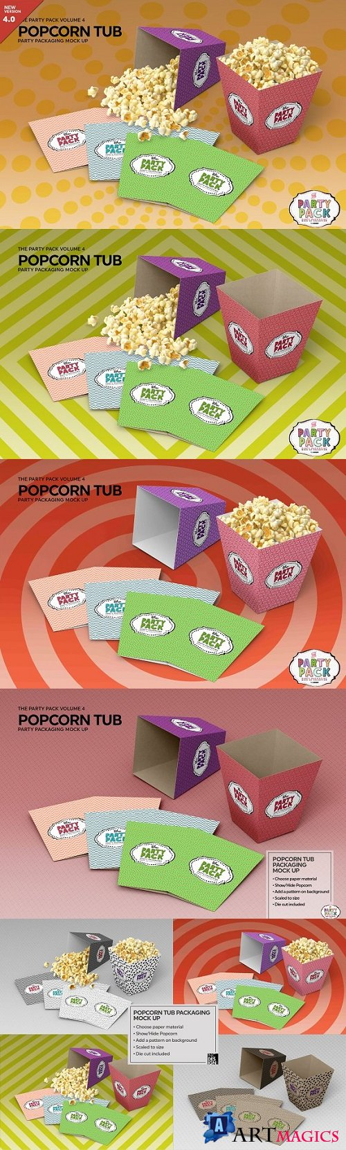 Popcorn Tub Packaging Mock Up - 2198469