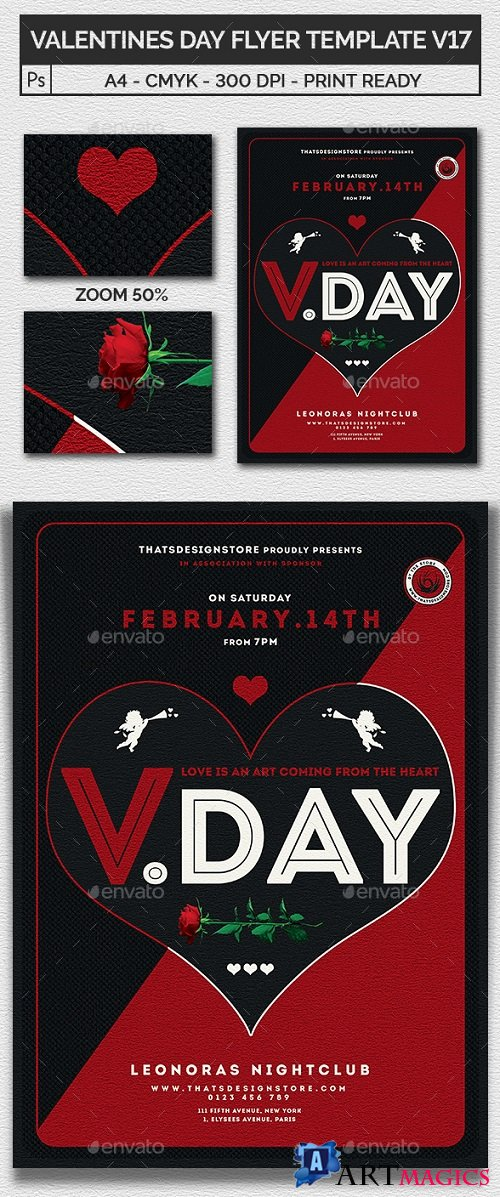 Valentines Day Flyer Template V17 21211611