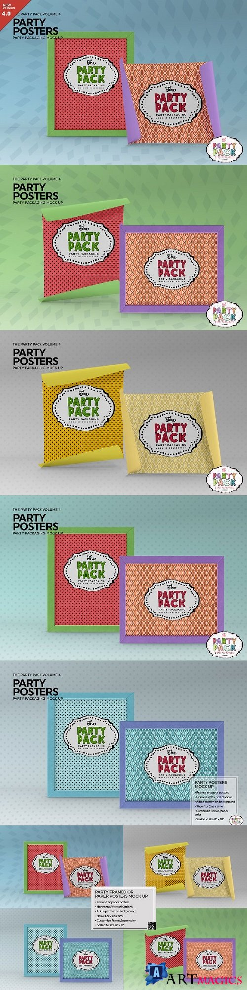 Party Posters Packaging MockUp - 2199343