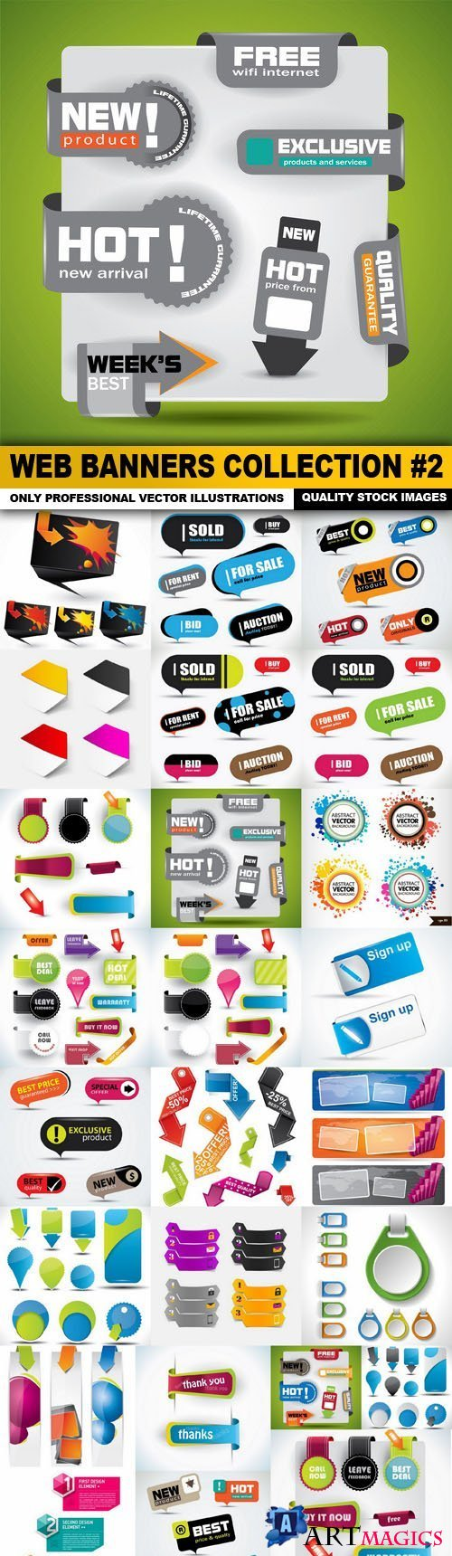 Web Banners Collection 2 - 25 Verctor