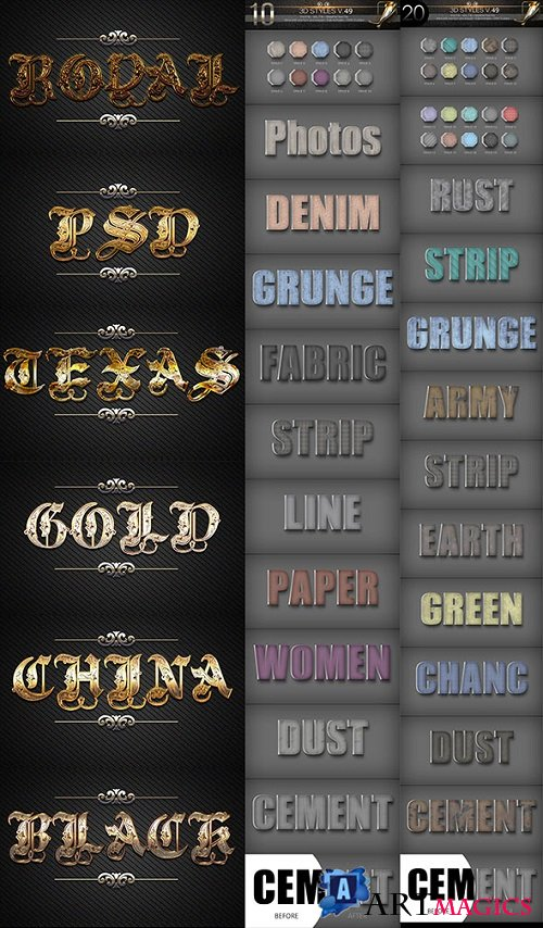 40 Bundle 3D Text Styles D47-D50 21259052