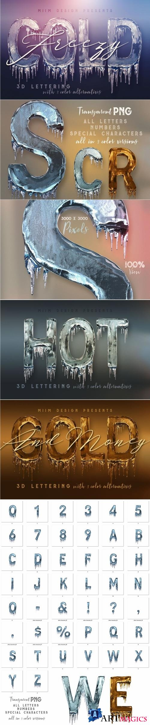 Ice Cold - 3D Lettering - 2221273