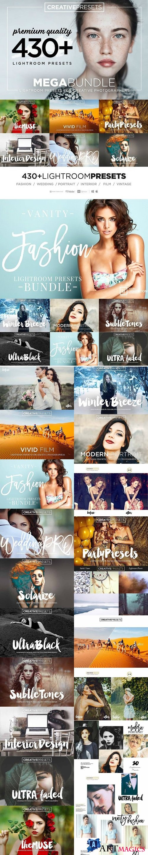 430+ LIGHTROOM PRESETS BUNDLE 2210409