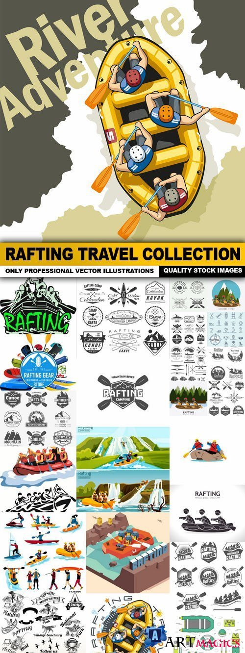 Rafting Travel Collection 25xEPS