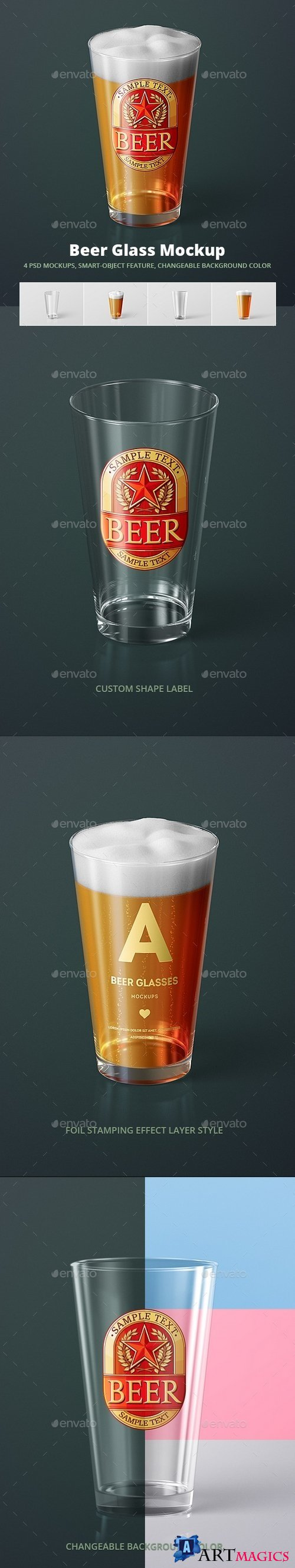 Beer Glass Mock-up - American Pint 21330837