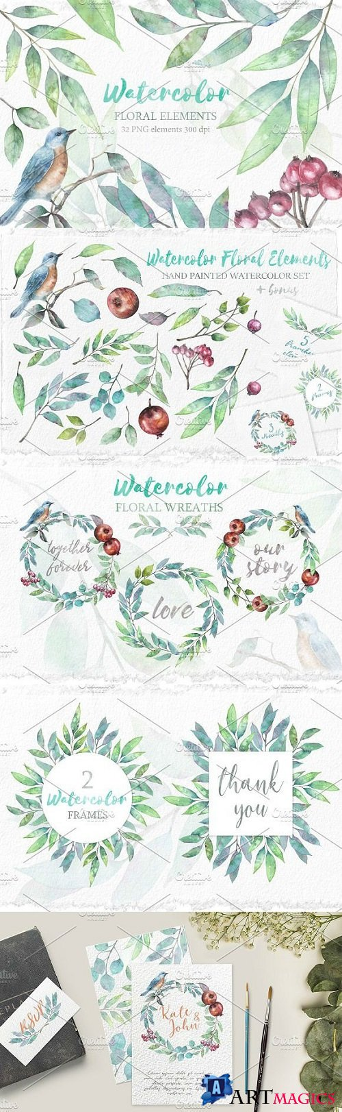 Watercolor floral collection 2160726
