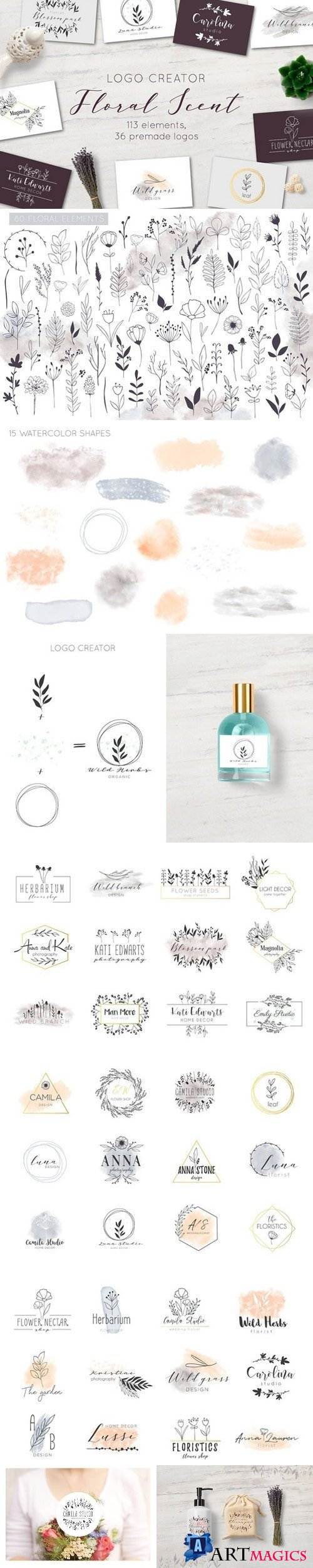Floral Scent LOGO CREATOR - 2147698